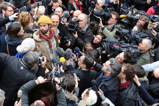 Cédric Herrou, de l'association Roya Citoyenne, au mois de février.