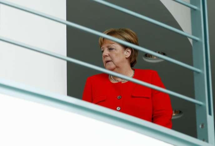 La chancelière allemande Angela Merkel à Berlin (Allemagne), le 17 juillet.