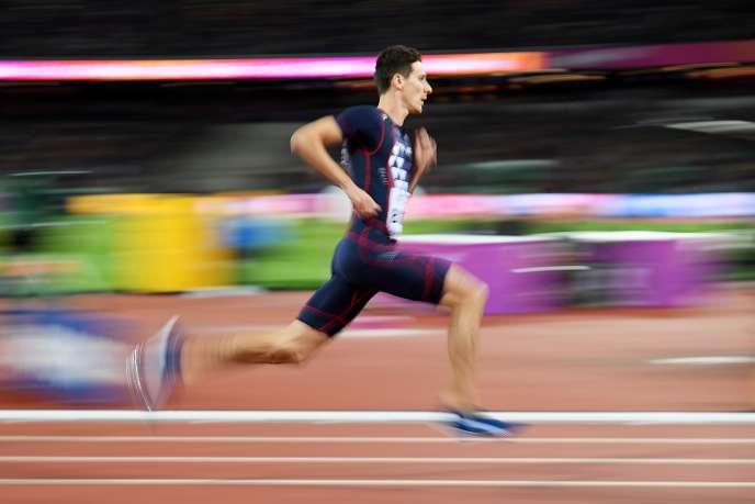 Pierre-Ambroise Bosse lors de la finale du 800 m à Londres le 8 août.