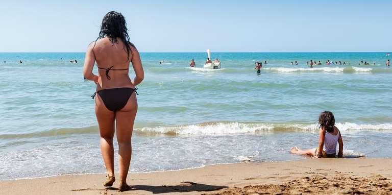 La plage de Tipaza, en Algérie.