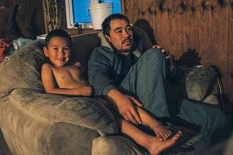La maison de Nathan, avec son fils Tyson, serala première à disparaître.