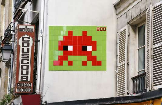 Le PA_800 d'Invader, à Paris.
