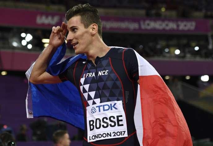 Pierre-Ambroise Bosse après sa victoire.