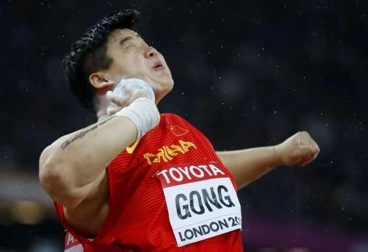 La Chinoise Lijiao Gong est championne du monde du lancer du poids.