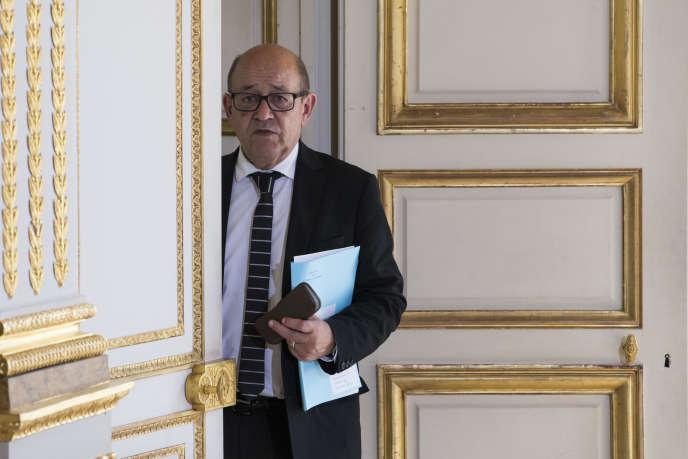 Jean-Yves Le Drian au palais de l'Elysée le 3 juin.