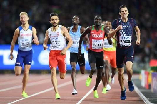 Pierre-Ambroise Bosse, dans les utimes mètres de la finale, mardi 8 août à Londres.
