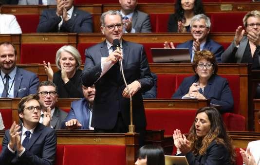 Le député (LRM) du Finistère Richard Ferrand, le 9 août, à l'Assemblée nationale.