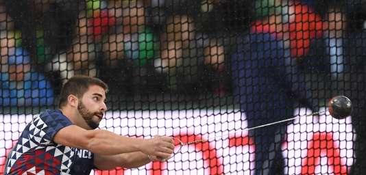 Quentin Bigot s'est facilement qualifié pour la finale du lancer du marteau.