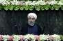 Le président iranien, Hassan Rohani, après avoir prêté serment devant le Parlement à Téhéran (Iran), le 5 août.