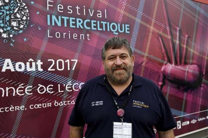 Lisardo Lombardia, directeur du Festival interceltique de Lorient, le 4 août.