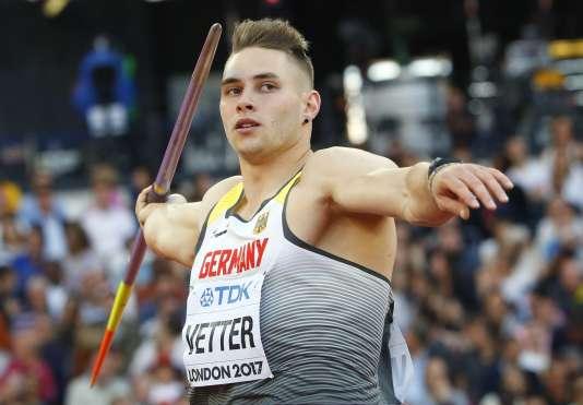 Johannes Vetter s'est facilement qualifié pour la finale du lancer du javelot.
