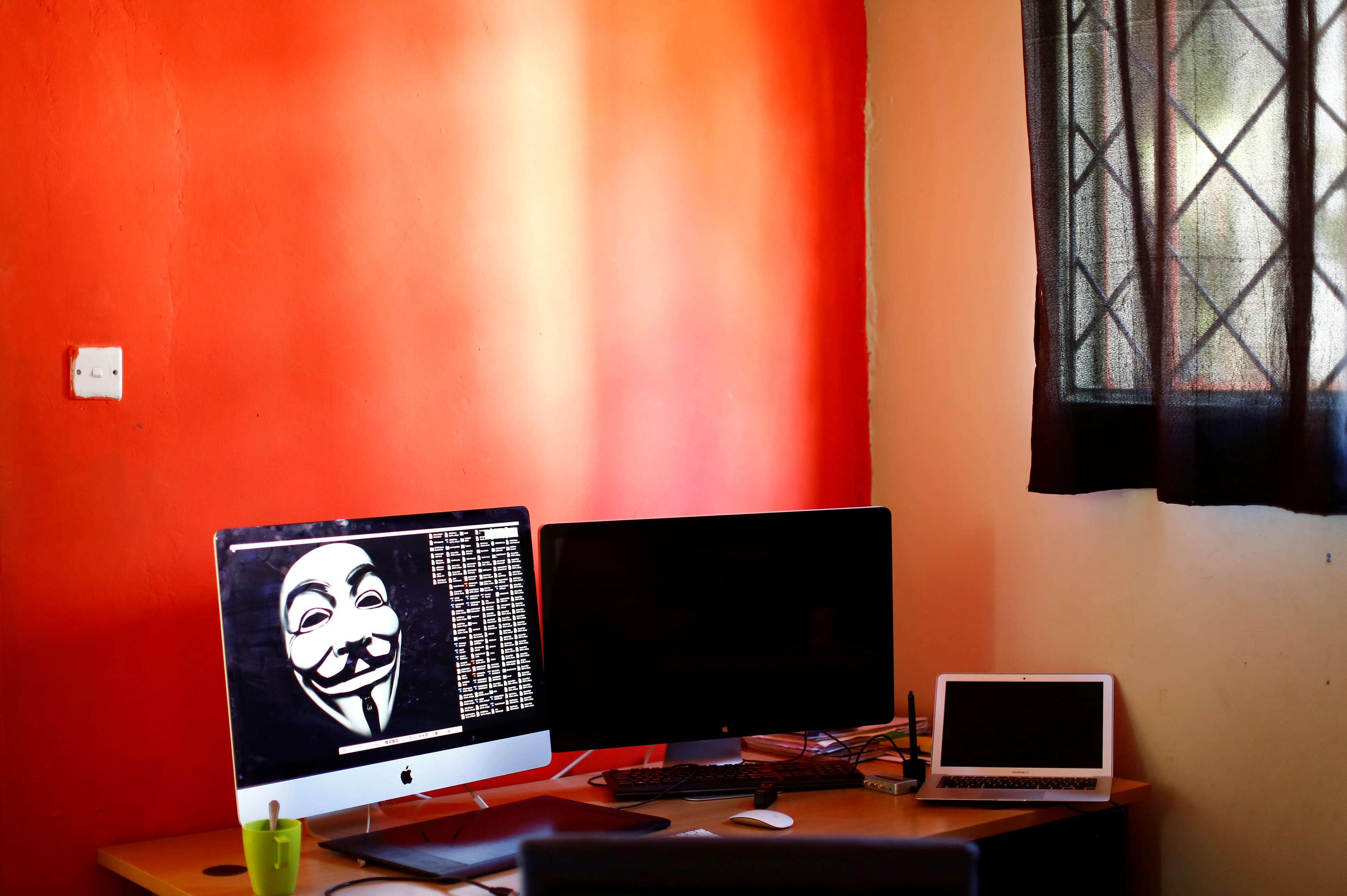 Un ordinateur de la maison de médias numériques panafricains«Africa inSight», le 1erdécembre 2016.
