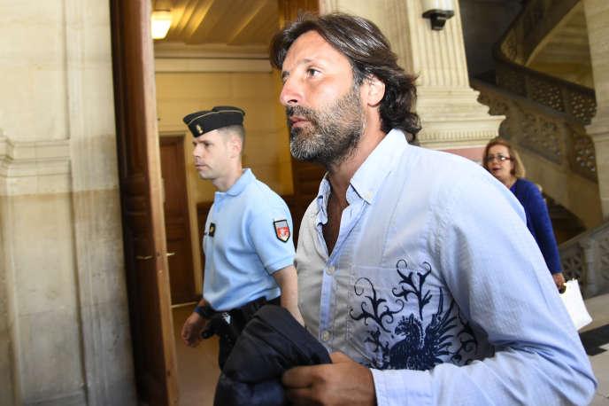 Arnaud Mimran au palais de justice de Paris, le 7 juillet 2016.