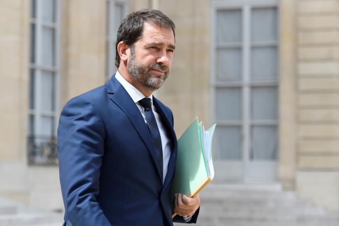 Christophe Castaner le 28juillet à l'Elysée.