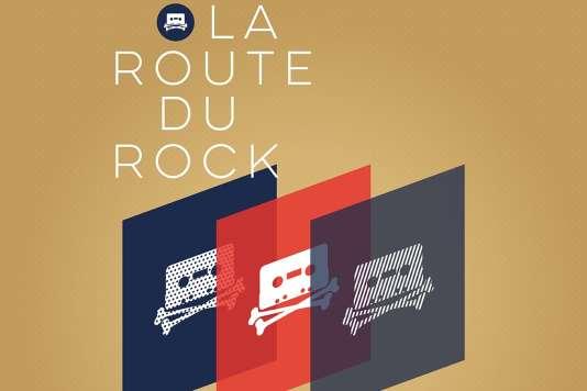 Affiche du festival La Route du rock,à Saint-Malo et au fort de Saint-Père (Ille-et-Vilaine).