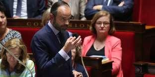 Le premier ministre Edouard Philippe, le 9août, à l'Assemblée nationale.