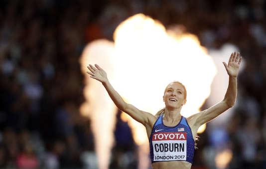Emma Coburn est championne du monde du 3 000 m steeple.