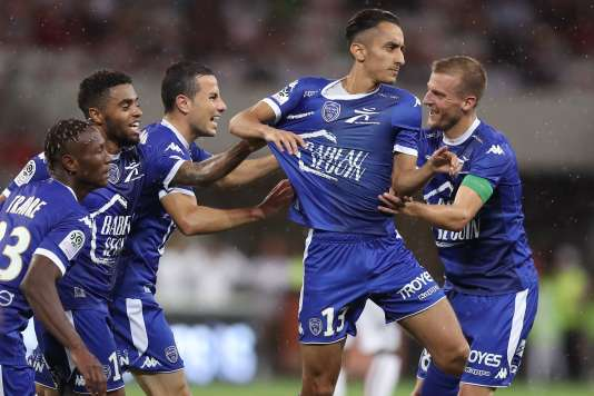 Lors de la rencontre de Ligue 1 entre Nice et Troyes, le 11 août, à l'Allianz Riviera stadium.