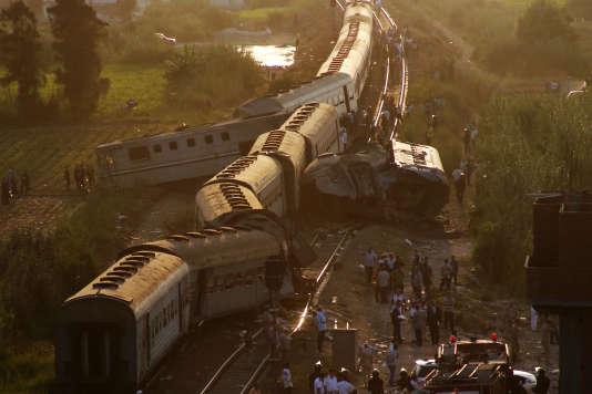 La collision entre deux trains, vendredi 11 août, a eu lieu à l'entrée de la ville d'Alexandrie, dans le nord de l'Egypte.