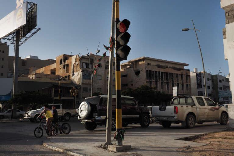 Dans les rues de Misrata, en Libye, le 26 juillet.
