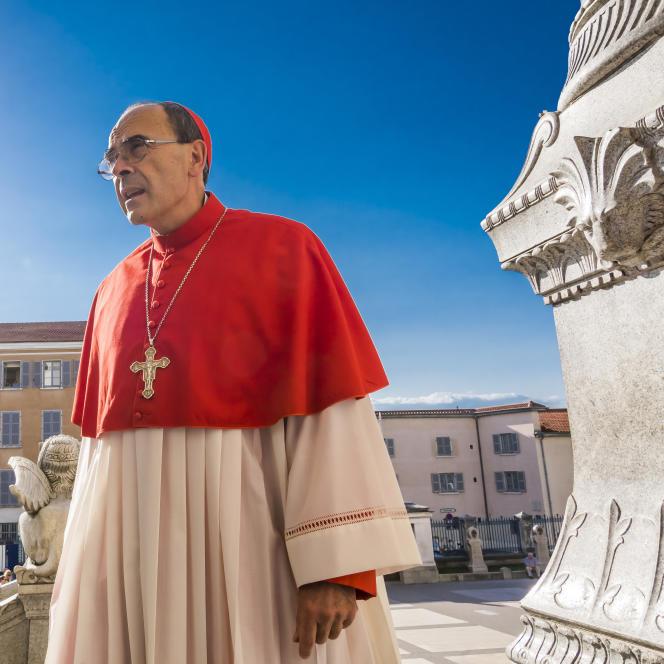 Le cardinal Barbarin à Lyon, le 8 septembre 2016.