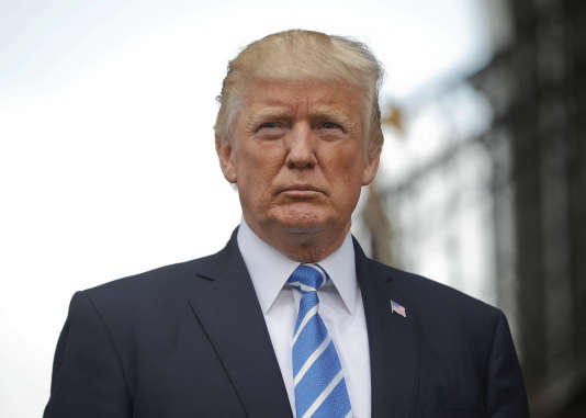 Le président américian Donald Trump, à Bedminster, le samedi 12 août.