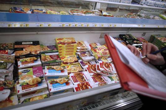 Les produits surgelés contenant des produits carnés sont soupçonnés, en janvier 2013.