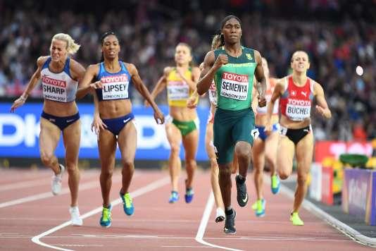Caster Semenya lors des demi-finales du 800 m, vendredi 11 août à Londres.