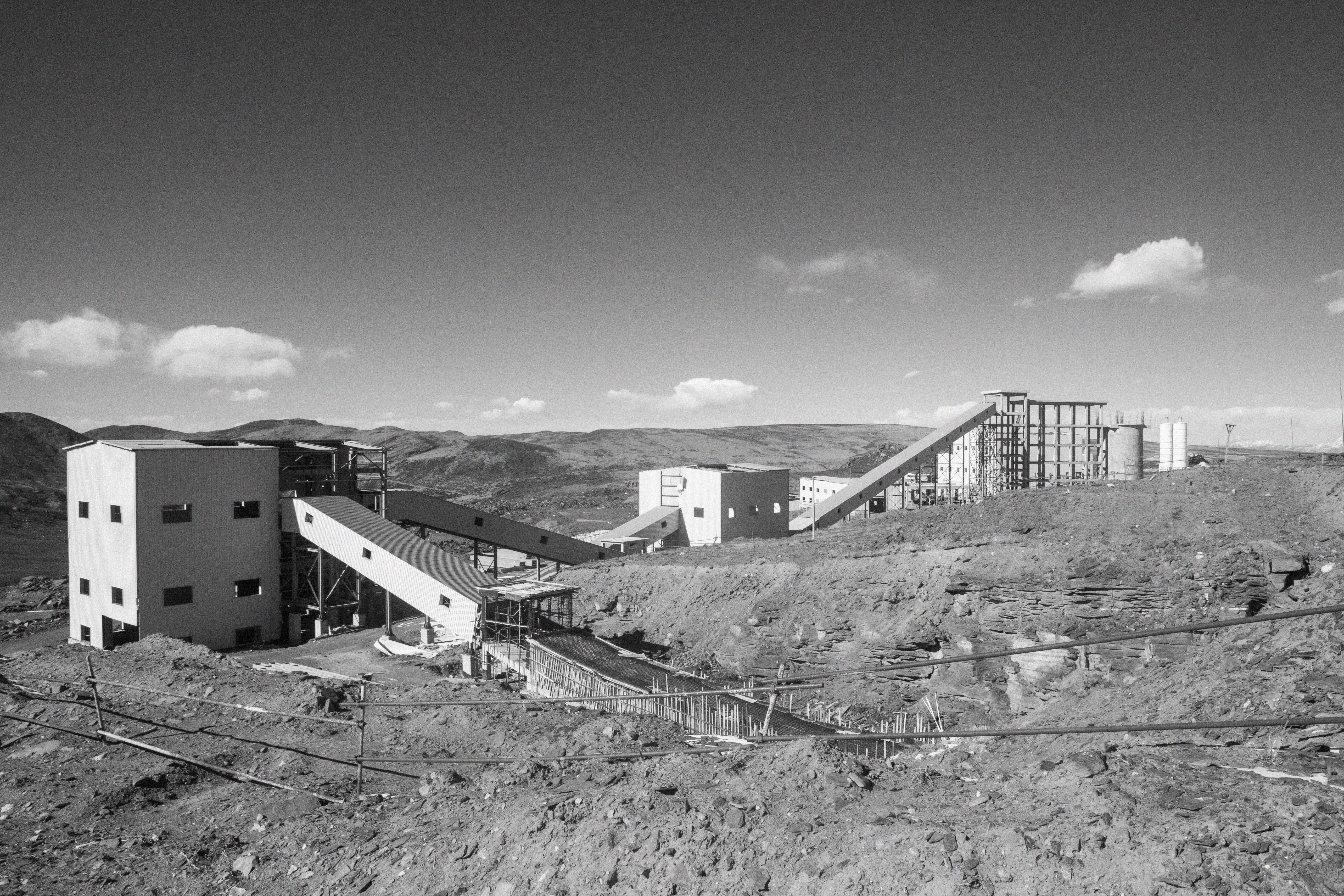 La mine de Jiajika, inachevée et inactive.