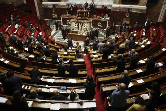 L'Assemblée nationale le dernier jour de la session extraordinaire, le 9 août 2017, lors du vote d'adoption du projet de loi sur la moralisation de la vie politique.