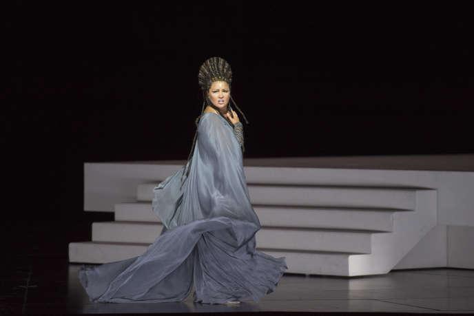 Anna Netrebko dans le rôle d'Aïda au Festival de Salzbourg, le 6 août.