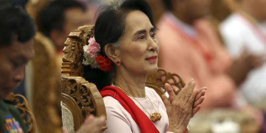 Aung San Suu Kyi, à Naypyidaw, le 11 août.