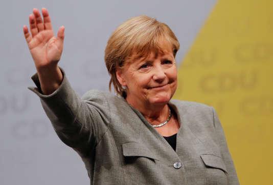 Angela Merkel, le 12 août 2017.