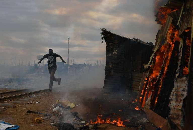Dans le bidonville de Kibera, à Nairobi, le 12 août.