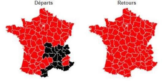 Bison futé a classé la journée rouge dans le sens des départs comme dans celui des retours. La vallée du Rhône a été classée noir.
