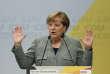 Angela Merkel en campagne à Dortmund, le 12 août.