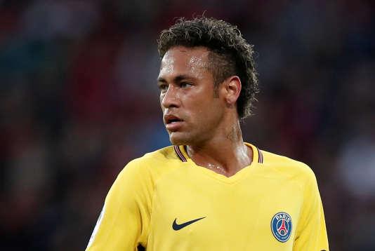 Neymar buteur lors du match face à Guingamp, le 13 août.