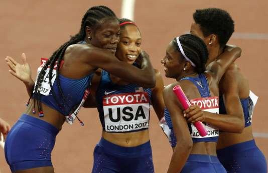 Allyson Felix a remporté sa 11e médaille d'or dimanche grâce au relais 4 x 400 m.