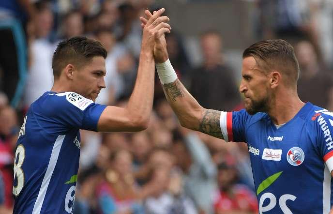 Jonas Martin et Idriss Saadi lors du match face à Lille, le 13août.