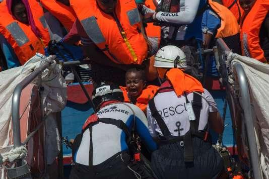 A bord du navire «Aquarius», au large de la Libye, le 2 août.