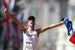 France's Yohann Diniz wins the men's 50km race walk athletics event at the 2017 IAAF World Championships on The Mall in central London on August 13, 2017. / AFP / Daniel LEAL-OLIVAS