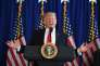 Depuis son club de golf de Bedminster, sa villégiature dans le New Jersey, Donald Trump commente les événements de Charlottesville, le 12 août.