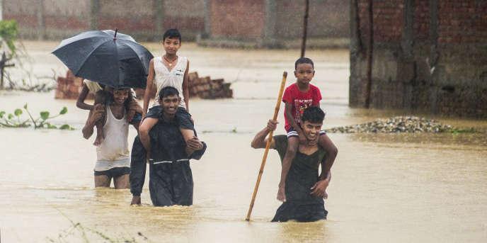 Les inondations ont déjà fait 58 morts au Népal à la fin du mois de juillet, en pleine période de mousson.