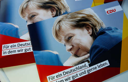 Les affiches de campagne d'Angela Merkel.