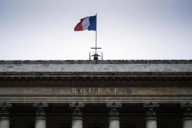 Le Palais Brongniart, à Paris, le 29 janvier.
