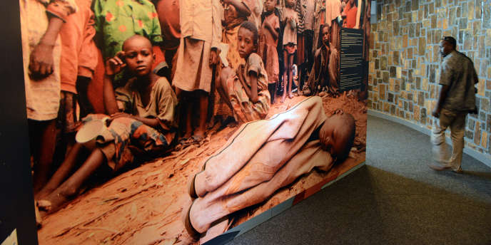 Au memorial du génocide de Kigali, au Rwanda, en 2014.