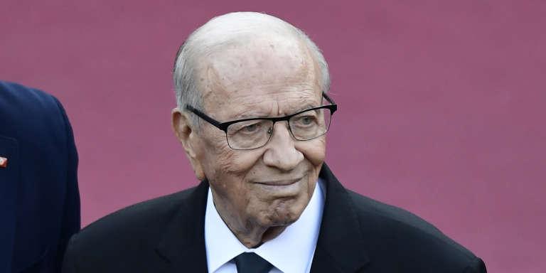 Le président tunisien, Béji Caïd Essebsi, lors du sommet du G7 à Taormine, en Italie, le 26mai 2017.