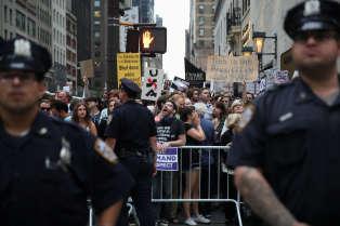 Manifestation contre le président américain Donald Trump à Manhattan (New York), le 14 août.