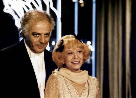 Marcello Mastroianni et Giulietta Masina dans le filmde Federico Fellini, «Ginger et Fred».