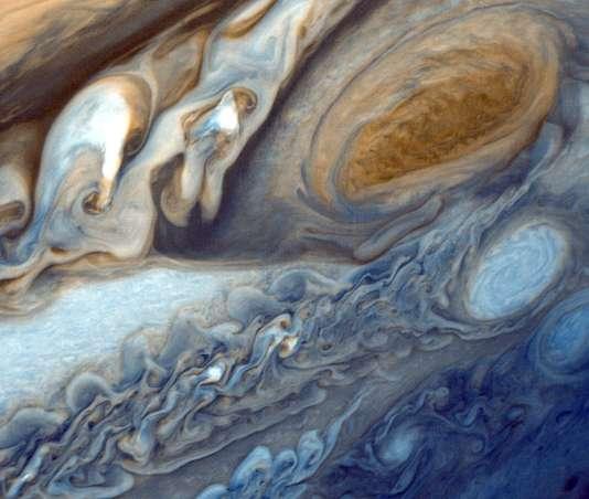 Photo de Jupiter prise par la sonde Voyager 1.